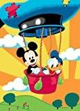 Associated Weavers M17 La Maison de Mickey de Disney Tapis Mickey en montgolfière 95 x 133 cm