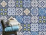 Autocollant carreau ciment - recouvrir carrelage mural salle de bain et faience cuisine | Stickers en vinyle - décorer l'intérieur ...