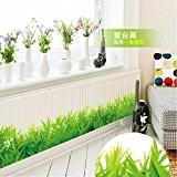 Autocollant muraux Autocollant mural en papier Décoration intérieure Décoration murale de bureau L'herbe verte