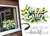 Autocollants de Pâques–Happy de Pâques–Oeuf de Pâques–Stickers Pâques pour Windows–30x 22cm