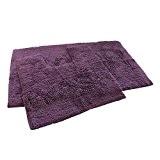 Bain et toilette Paillette 100% coton Tapis de bain Ensemble de salle de bain wc Violet (Standard)