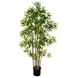 Bambou artificiel, 960 petites feuilles, 110 cm - plante synthétique - artplants
