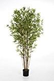 Bambou japonais artificiel KANAYO, 3520 feuilles, vert, 180 cm - Plante artificielle / Bambou décoratif - artplants