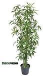 Bambou Plante Arbre Artificielle Artificiel Plastique 180cm avec Bois Véritable Domaine Interne Decovego
