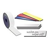 Bande magnétique de couleur, effaçables à sec - 0,85mm x 20mm x 5m - pour étiqueter et marquer, Couleur:blanc