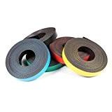 Bande magnétique de couleur, flexible et avec fortement magnétisé - 0,85mm x 50mm x 5m - pour étiqueter et marquer, ...