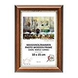 BARI RUSTIQUE - brun foncé - 30x40 cm - cadre en bois, cadre pour photo
