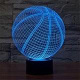Basketball 3D Lampe tactile Colorful LED Lumière Visuelle Cadeau Lampe Festival Atmosphère