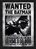 BATMAN - Affiche Sous Cadre - Arkham Orignis Wanted - Noir