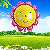 Bazaar Décoration feuille d'aluminium tournesol ballon ballons souriant visage de fête d'anniversaire de 23 pouces