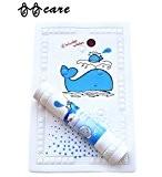 BBCare Tapis de bain antidérapant pour bébé avec Témoin de Température - Baleine_Bleu (40*70cm)