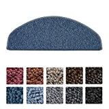 Beautissu® 15 tapis de marche d'escalier ProStair 20x56cm couture robuste - Antidérapant - rapide facile - Bleu foncé