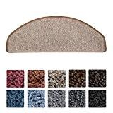 Beautissu® 15 tapis de marche d'escalier ProStair 28x65cm couture robuste - Antidérapant pose rapide facile - Sable