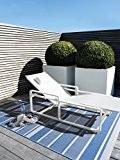 benuta Tapis d'extérieur Essenza Striped pas cher Bleu 200x290 cm - Label de qualité GuT - 100% Polypropylène - Rayures ...