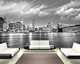 """Bilderdepot24 pajetée peint photo autocollant - autoadhésif """"New York VI - noir et blanc"""" 420x270 cm - vente directe fabricant!"""