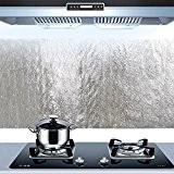 Bleulover Autocollant d'Huile de cuisine en aluminium Film auto-adhésif Cuisine Anti Huile Cabinet Wall Paper adhésif