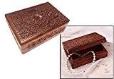 Bois Boîte à bijoux Carving travail Rectangle Box, 5.5X3.5, Bois Boîte à bijoux décoratif, boîte à bijoux de stockage,Cadeau pour ...