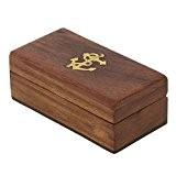 Boîte À Bijoux En Bois Bijou, Cadeau Élégant Et Simple Pour Sœur, 4 X 2 X 1,5 Pouces
