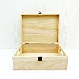 Boîte de rangement en bois non vernies–– 300x 230x 115mm