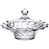 """Bonbonnière en cristal, Boîte à Sucre avec couvercle, Bol de bonbons et sucrés, Collection """"PICADELLI"""" transparent, Ø 21cm, cristal, style ..."""