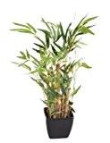 Bonsaï artificiel mini bambou en pot PVC carré - plante artificielle d intérieur - H.50cm