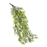 Branche de bambou artificielle, 80 feuilles, 58 cm, résistante aux intempéries - feuillage artificiel / bambou artificiel - artplants