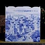 BSQDJ-ornements en céramique de Jingdezhen/décorations/ville ancienne perle des ornements du paysage bleu et blanc vase peint à la main/décorations ornements ...