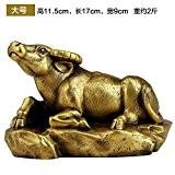 BSQDJ-Ornements, ornements de cuivre pur, vache ornement, lucky place, mascot figurines, décoration, ornements décoratifs, décorations d'anniversaire, décoration de bureau,6 Jaune ...
