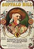 Buffalo Bill Wild West Mouvement photo de look vintage Reproduction Plaque en métal 17,8x 25,4cm