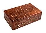 Cadeaux spéciaux sur la fête des mères Bois indien Handcrafted travail Boîte à bijoux en laiton incrusté et le design ...