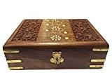 Cadeaux spéciaux sur la fête des mères.Boîte de rangement en bois, Carving Fleur n Inlay Box Vintage, Box décoratifs en ...
