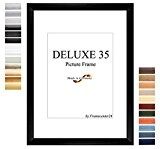 Cadre de Photo d'image DELUXE35 35x50 cm ou 50x35 cm in NOIR avec Anti-reflet verre artificielle et le mdf panneau ...