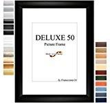 Cadre de Photo d'image DELUXE50 30x41 cm ou 41x30 cm in BLANC avec Anti-reflet verre artificielle et le mdf panneau ...