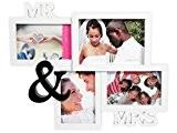Cadre pêle-mêle 40 x 32 x 1,5 cm (Mr & Mrs 94/2422) pour 4 photos Une idée cadeau de décoration ...
