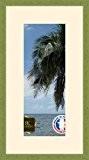 Cadre Photo avec Passe-Partout Peach Cadre photo mural pour image 15x38 / 15 x 38 cm cadre Vert Olive, 2 ...