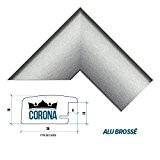 """Cadre photo """"CORONA"""" 60 x 90 cm - Alu brossé - 7 Couleurs - Noir, Blanc, Hêtre, Brun foncé, Alu ..."""