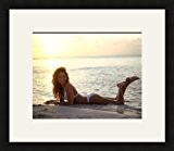 Cadre photo multivues Super Blanc 1 photo(s) 25x20 passe partout, Cadre photo 35x30 cm Noir, 2 cm de largeur.