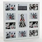 Cadre photo pêle-mêle mural coloris blanc capacité 11 photos