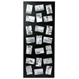 Cadre photo pêle-mêle mural coloris noir capacité 21 photos