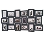 Cadre photo pêle-mêle mural PANORAMIQUE - Capacité 18 photos - Coloris GRIS