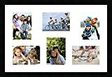 Cadres photos pêle mêle multivues 3 photo(s) 13x18 and 3 photo(s) 18x13 Passe Partout, Cadre photo mural 60x40 cm Noir, ...