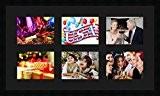 Cadres photos pêle mêle multivues Noir 6 photo(s) 20x15 Passe Partout, Cadre photo mural 75x43 cm Noir, 3 cm de ...