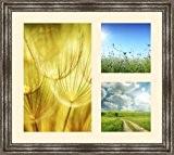 Cadres photos pêle mêle multivues Peach 1 photo(s) 20x32 and 2 photo(s) 15x15 Passe Partout, Cadre photo mural 42x37 cm ...