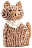 Cale Porte Chat avec foulard (Marron)