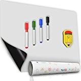 Calendrier Tableau Magnétique Blanc de Réfrigérateur - 30x40 cm - Tableau pour Magnets de Frigo de Messages et Rappels - ...