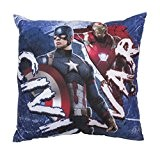 Captain America 3Guerre Civile Coussin carré, Polyester, multicolore