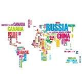 Carte du monde chendongdong Lettre autocollant amovible en vinyle Art Mural Home Decor Stickers muraux
