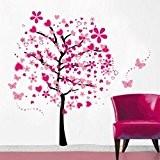 Cartoon arbre papillon DIY Stickers muraux, ividz arbres Stickers muraux Papier peint amovible Stickers muraux Home Decor Living Chambre filles ...