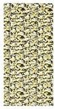 Catherine Lansfield Rideaux à œillets Motif camouflage, 55% Coton/45% polyester–percale 200, vert, 66x 183cm