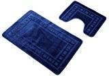 Catherine lansfield set tapis de bain et tapis contour wc armoni, bleu marine